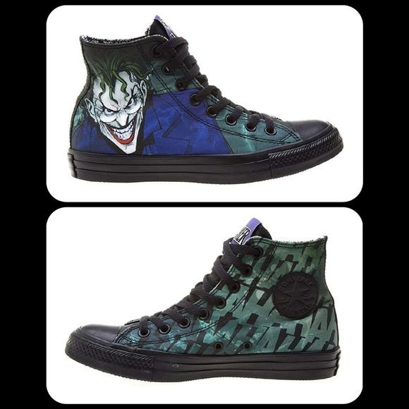 b632848aca4a Converse Other - Converse DC Comics Unisex Joker Hi-tops Sz Men(6)